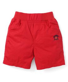 Jash Kids Solid Colour Shorts - Red