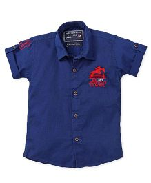 Jash Kids Half Sleeves Shirt Embroidery - Blue