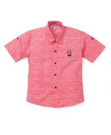 Jash Kids Short Sleeves Shirt Bear Embroidery - Pink