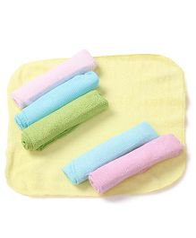 Ohms Hand & Face Towels Pack Of 6 - Multi Color