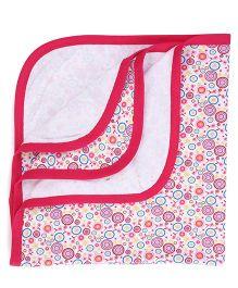 Ohms Printed Baby Blanket - Pink