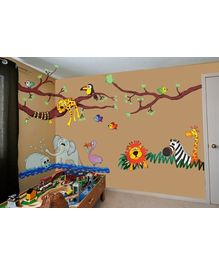 WallDesign - Wild Jungle Hangout Stickers