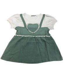 Superfie Trendy Design Summer Dress - Green