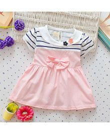 Superfie Summer Dress With Bow Applique - Light Pink