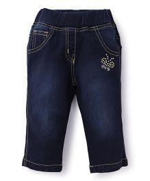 Little Kangaroos Jeans Studded Butterfly - Dark Blue