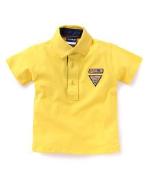 Little Kangaroos Half Sleeves Tee Play Champ 96 Patch - Yellow