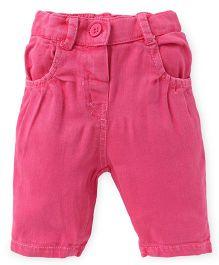 Little Kangaroos Plain Solid Color Capri - Pink