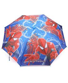 Spider Man Umbrella With Whistle - Red & Blue