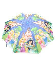 Disney Princess Kids Umbrella With Whistle - Blue & Green
