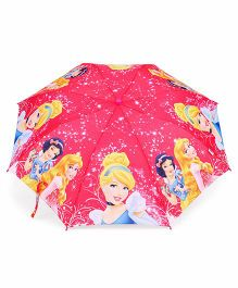 Disney Princess Printed Umbrella With Whistle - Pink