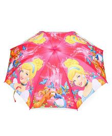 Disney Princess Printed Umbrella With Whistle - Pink & Multicolor
