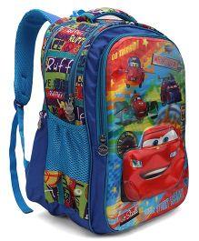 Disney School Bag Pixar Car Print - Blue