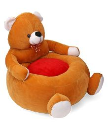 Lovely Teddy Shaped Sofa With Bow - Brown