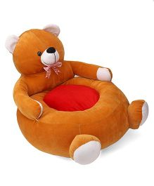 Lovely Teddy Shaped Sofa With Bow - Brown Pink