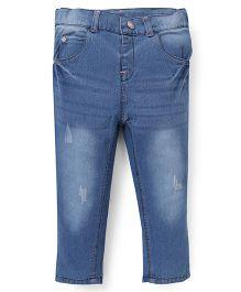 ToffyHouse Full Length Denim Jeans - Light Ice Blue