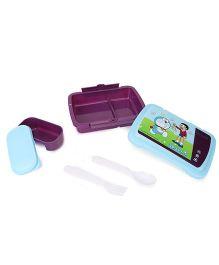 Doraemon Printed Lunch Box - Purple Blue
