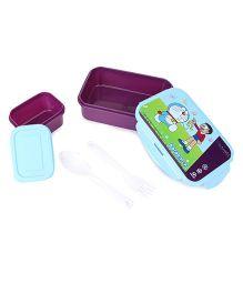 Doraemon Printed Lunch Box - Blue Purple