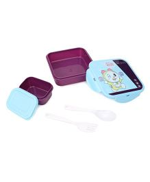 Doraemon Sandwich Lunch Box Set Doreme Print  - Blue Purple