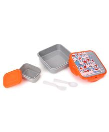 Doraemon Sandwich Box - Grey Orange