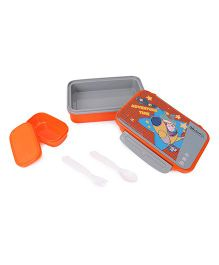 Doraemon Lunch Box Adventure Time Print - Grey Orange