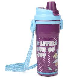 Doraemon Water Bottle Blue Purple - 600 ml