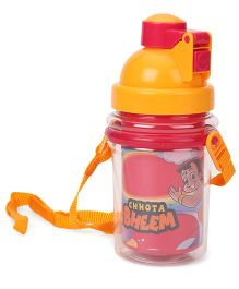 Chhota Bheem Water Bottle Red Yellow - 370 ml