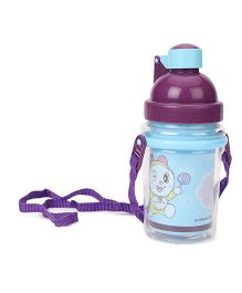 Doraemon Water Bottle Blue Purple - 370 ml
