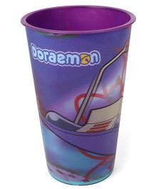 Doraemon Glass Purple - 600 ml