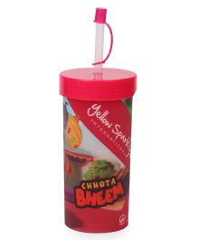 Chhota Bheem Sip Lid Glass - Red