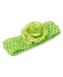Babyhug Lace Headband Floral Applique - Green