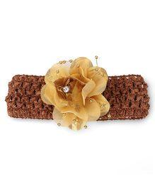 Babyhug Headband Floral Motif - Golden Brown