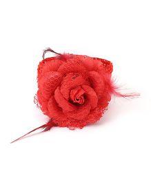 Babyhug Headband With Floral Motif - Red