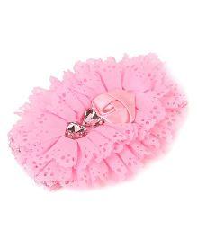 Babyhug Headbands Lace Frills Design - Pink
