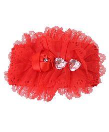 Babyhug Headband Floral Applique - Red