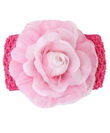 Babyhug Headband Floral Design - Dark Pink