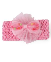 Babyhug Floral Motif Headband - Light Pink