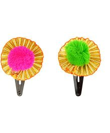 Funkrafts Ethnic Pack Of 4 Hair Clips - Multicolor