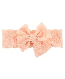 Funkrafts Double Bow Headband - Peach