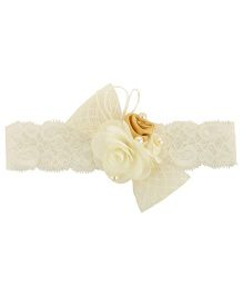 Funkrafts Bow Headband - Cream