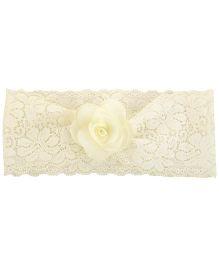 Funkrafts Pretty Flower Headband - Cream