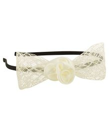 Funkrafts Net Bow Hair Band - Cream
