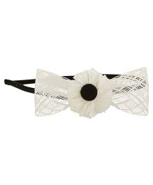 Funkrafts Bow Hair Band - White
