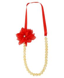 Funkrafts Pearl Necklace - Red