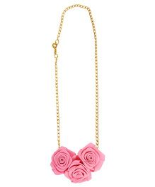 Funkrafts Flower Girl Necklace - Pink