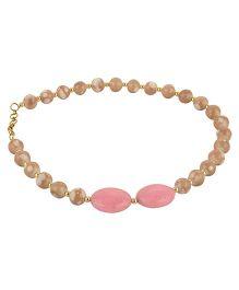 Funkrafts Pearl Necklace - Brown