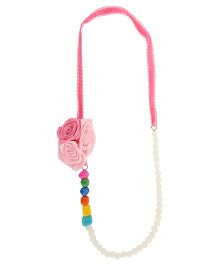 Funkrafts Flower Pearl Necklace - Pink