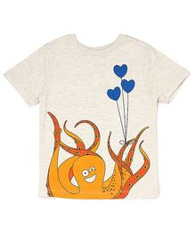 The Lion And The Fish Tee Octopus Print - Off White