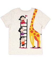 The Lion And The Fish Tee Giraffe Print - Off White