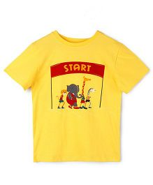The Lion And The Fish Tee Speedy Cheetah Print - Yellow
