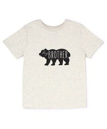 The Lion And The Fish Tee Big Brother Bear Print - Off White